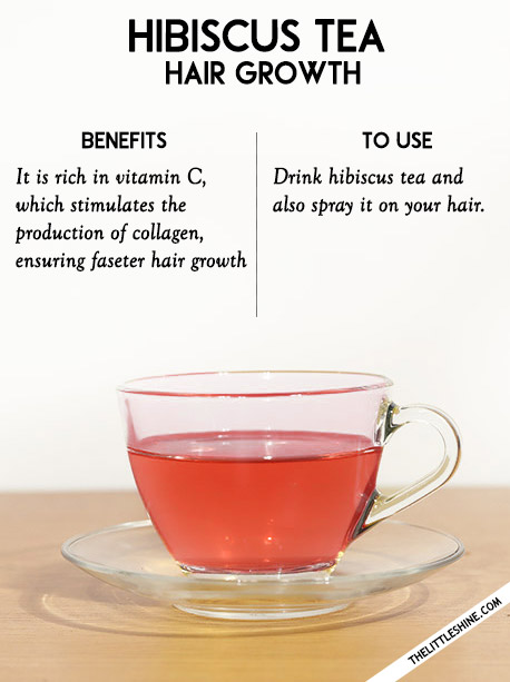 4 Hair growth - Hibiscus and green tea