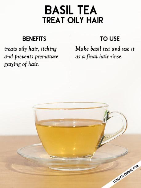 6. Dandruff - Basil tea, neem tea