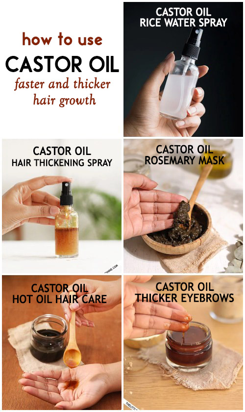 Best ways to use castor oil for faster and thicker hair growth