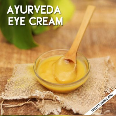 Ayurvedic Eye Care With Ghee
