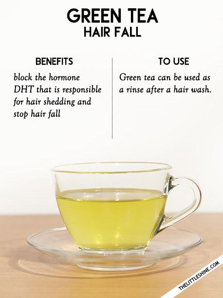 2. Hair fall -green tea