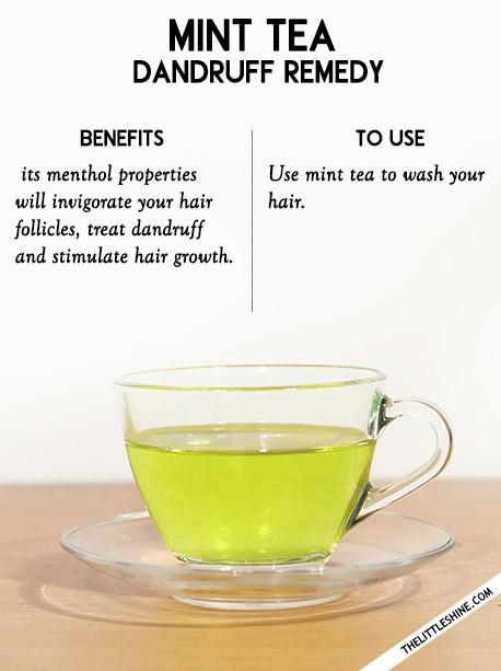 2. Oily hair - Peppermint tea, nettle tea