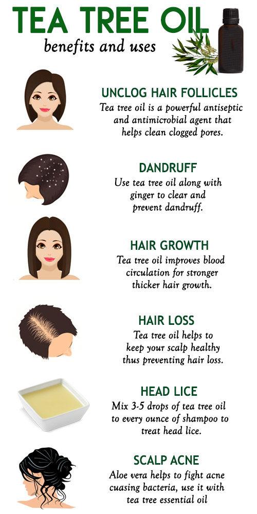 Tea tree oil for healthy hair