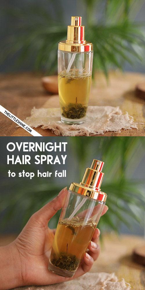 OVERNIGHT HAIR SPRAY to stop hair fall