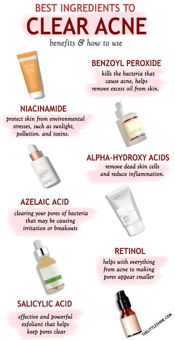 BEST SKINCARE INGREDIENTS TO CLEAR ACNE