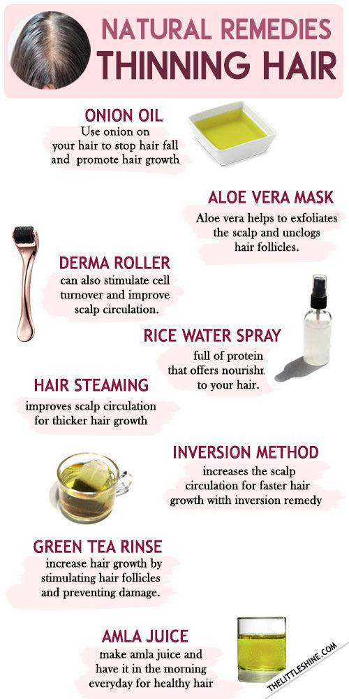 THINNING HAIR NATURAL REMEDIES