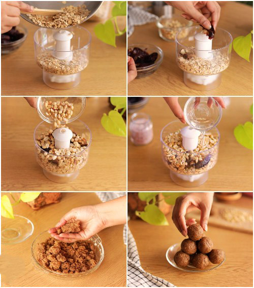 OATS ENERGY BALLS with just 5 ingredients