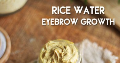 RICE WATER for faster and thicker eyebrow growth
