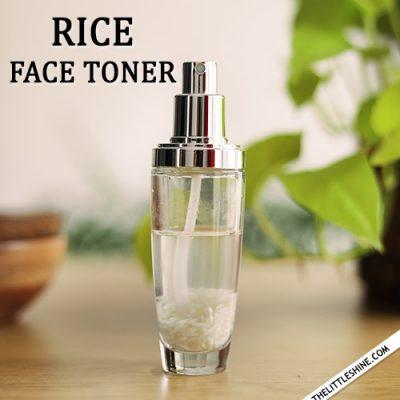 BRIGHTEN SKIN with rice water toner