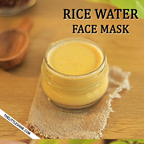 FERMENTED RICE WATER FACE MASK to brighten skin