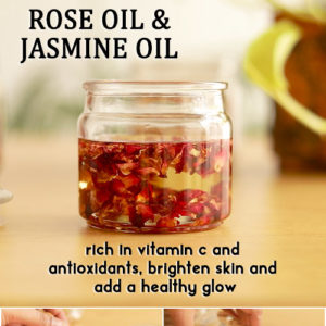 How to make ROSE AND JASMINE OIL for glowing skin