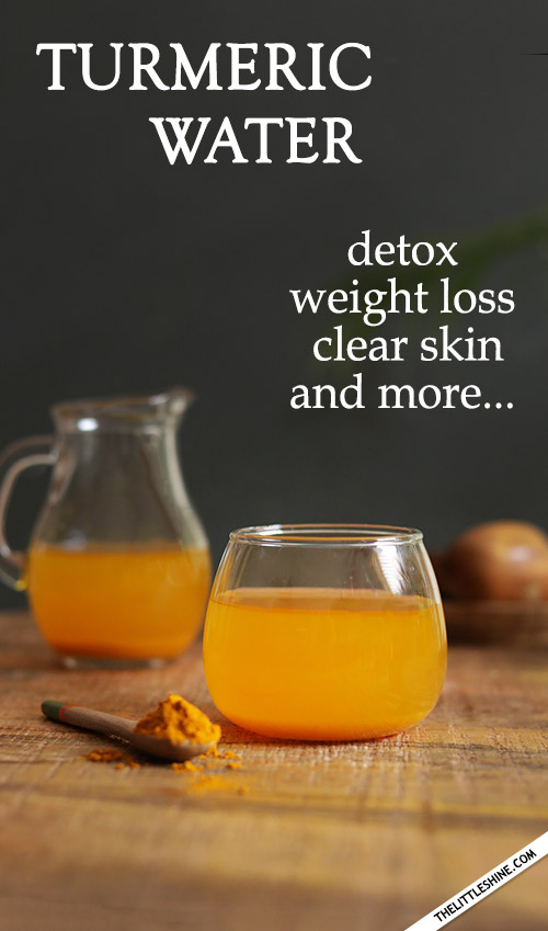 TURMERIC WATER benefits - for weight loss, clear skin, and more