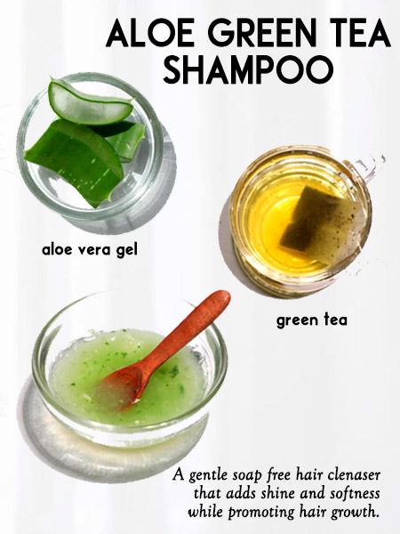 Aloe Green tea shampoo -