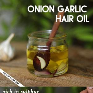 ONION & GARLIC HAIR OIL to stop hair fall and regrow thinning hair