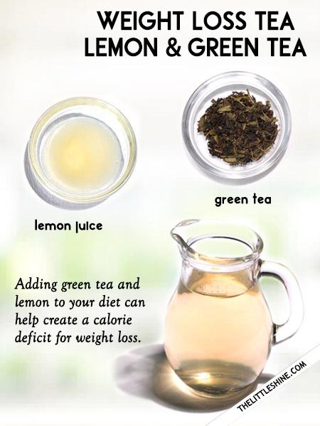 Lemon and Green tea weight loss Tea
