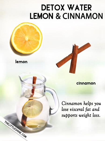 Lemon and Cinnamon Water -