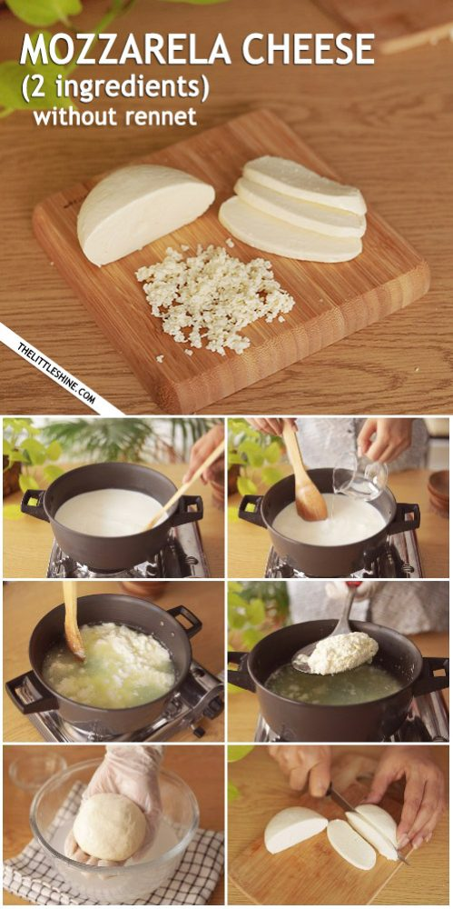 Homemade Mozzarella Cheese Recipe Without Rennet