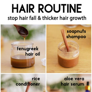 NATURAL HAIR ROUTINE to stop hair fall and grow thicker hair
