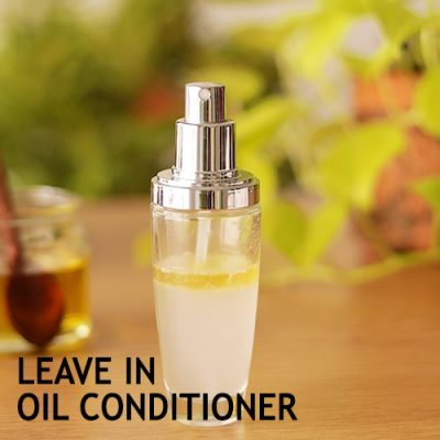 LEAVE IN OIL CONDITIONER to treat dry frizzy and damaged hair