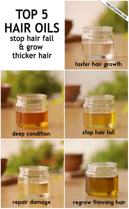 Top 5 best hair oils to stop hair fall and grow thicker hair