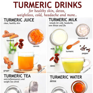 TURMERIC DRINKS for health and beauty