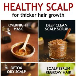 HEALTHY SCALP for thicker hair growth