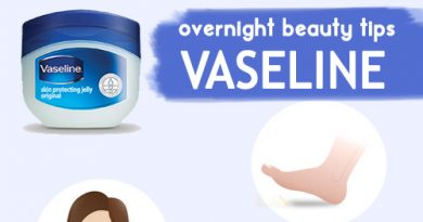 VASELINE OVERNIGHT BEAUTY TIPS