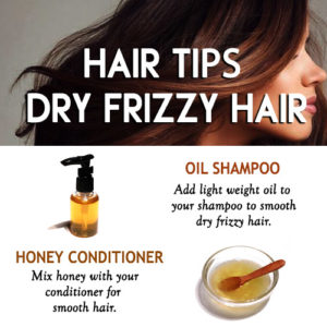 Amazing hair tips to smooth dry frizzy hair naturally