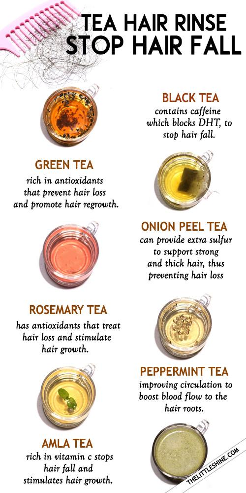 TEA HAIR RINSE to stop hair fall