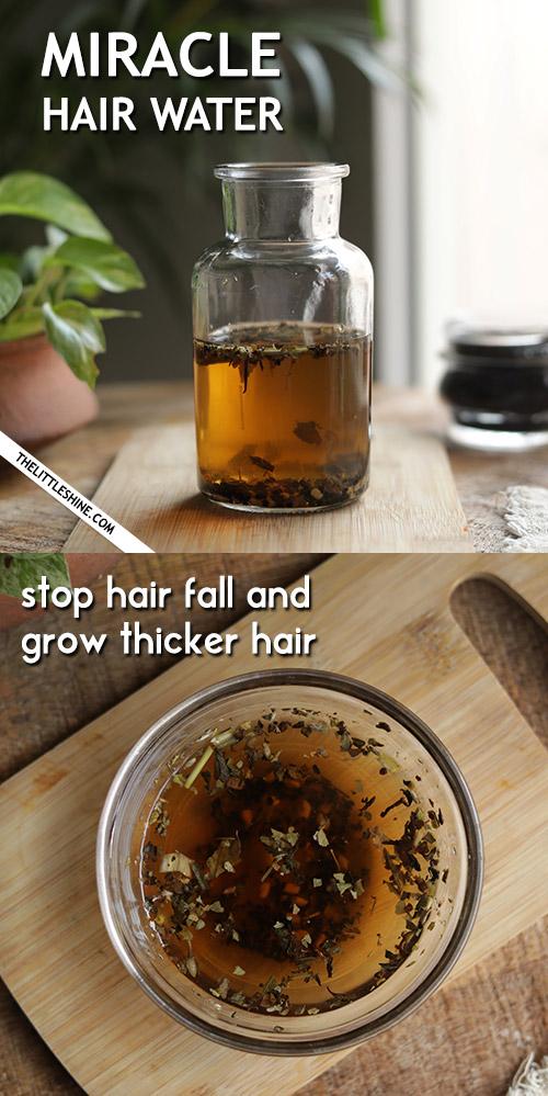 MIRACLE HAIR WATER to regrow hair