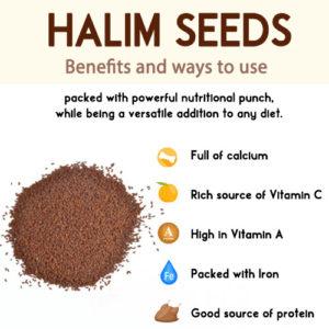Aliv Seeds Or Halim Seeds - Benefits And Uses