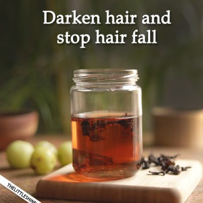 DARKEN HAIR AND STOP HAIR FALL with these 2 magical ingredients