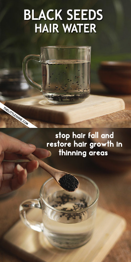 BLACK SEEDS HAIR WATER for thinning hair