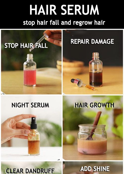 NATURAL HAIR SERUM for longer stronger hair