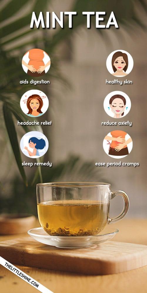 MINT TEA - RECIPE, REMEDIES AND BENEFITS