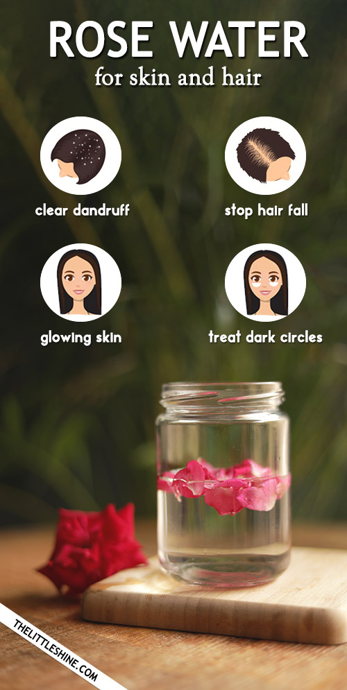 ROSE WATER for healthy hair and clear skin