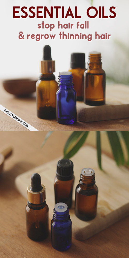 BEST ESSENTIAL OILS to stop hair fall and regrow hair