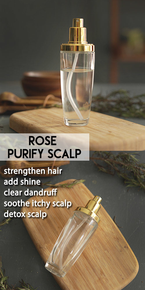 ROSE TO PURIFY SCALP AND CLEAR DANDRUFF