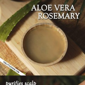 Exfoliate scalp, remove dead skin, stop hair fall with aloe vera and rosemary