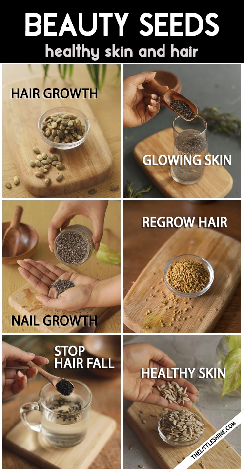 BEAUTY SEEDS - best seeds for healthy skin and hair