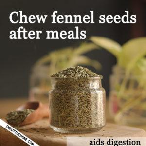 Eating Fennel Seeds
