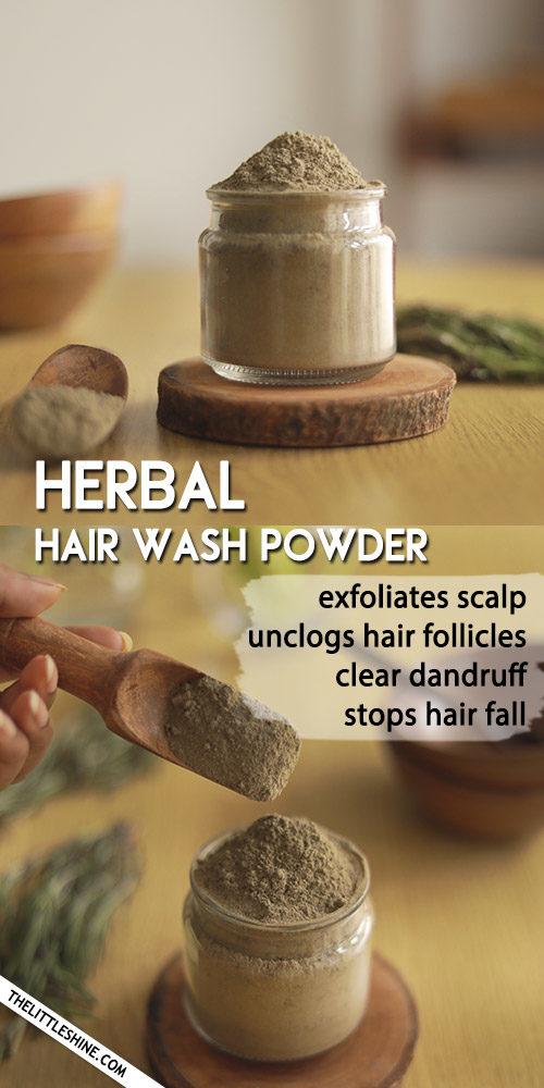 Herbal hair wash Powder to stop hair fall