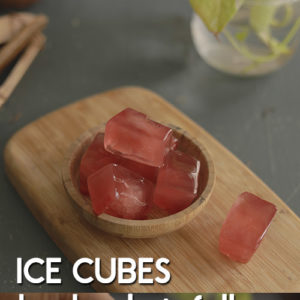 Hair ice cubes to stop hair fall