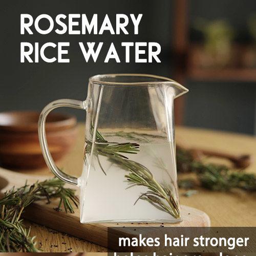 ROSEMARY RICE WATER to regrow thinning hair