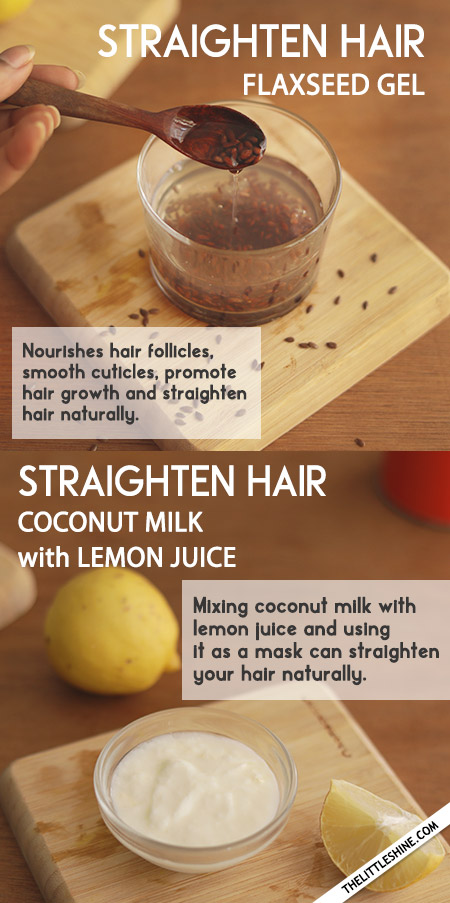 NATURAL WAYS TO STRAIGHTEN HAIR AT HOME