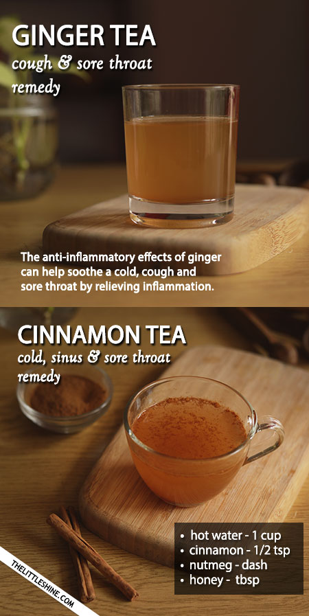 TEAS TO SOOTHE A COLD, COUGH AND SORE THROAT