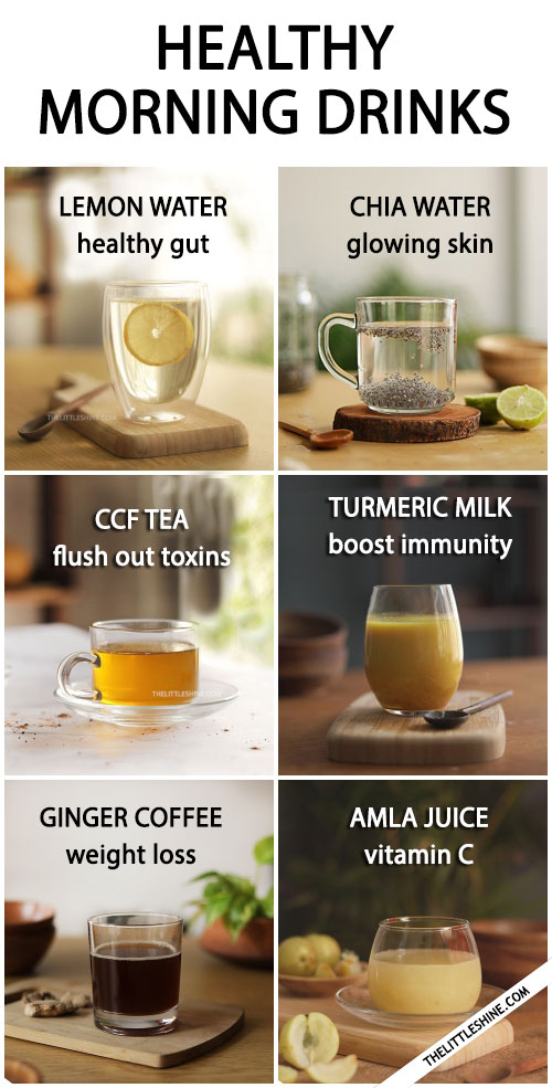 HEALTHY MORNING DRINKS