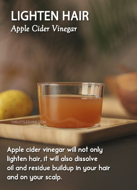 lighten-hair-apple cider vinegar