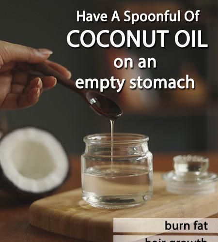 COCONUT OIL ON AN EMPTY STOMACH