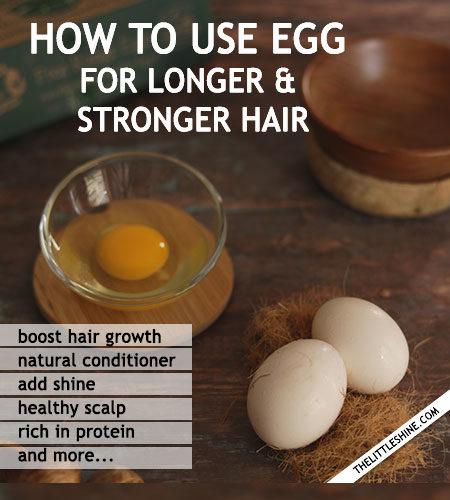 Egg For longer, stronger and healthier hair